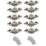 maniglie per mobili, Wolfbush 10pcs 119 millimetri tipo sottile di antiquariato pomoli per mobili cassetto Il portello del guardaroba maniglia di tiro - Bronzo