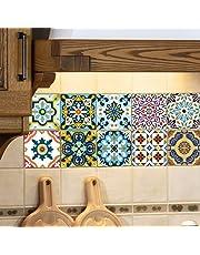 Extsud Adesivi per Piastrelle Wall Stickers da Mattonelle Parete in PVC Impermeabile Autoadesivo Decorazione per Cucina Bagno Fai da Te
