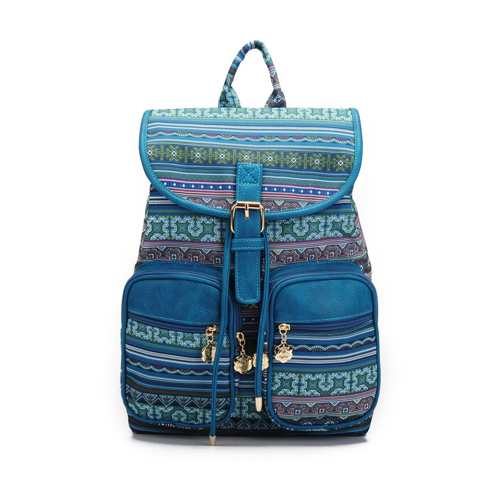 Fashion Women Backpack Casual Backpack Girls School Backpack Green by Ms.Camellia