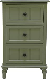 Décor Therapy Simplify Three Drawer Accent Table, 11.8x15.75x25, Olive Branch