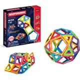 Magformers Basic Set (62-pieces) Magnetic Building Blocks, Educational Magnetic Tiles, Magnetic Building STEM Toy, Multi-colo
