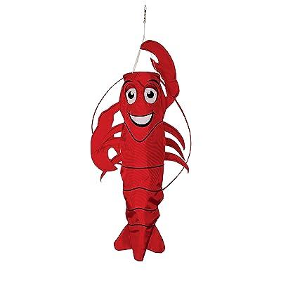 In the Breeze 3D Lobster Windsock - Hanging Outdoor Decoration : Garden & Outdoor