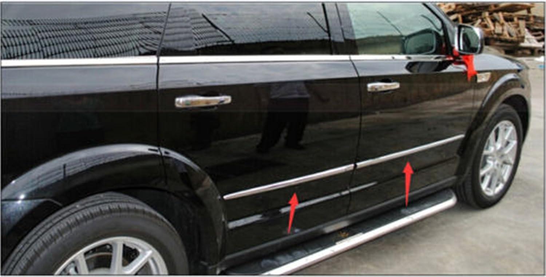 Confezione da 4 pezzi di copertura decorativa per modanatura porte laterali carrozzeria in ABS cromato