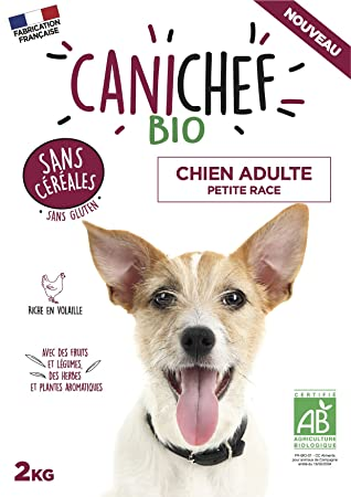 Canichef Organic Grain Free And Gluten Free Dry Dog Food For Small