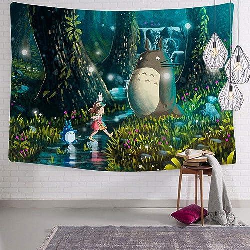 BEKAIHOME Neighbor to-to-Ro Print Wall Hanging Tapestries,Wall Hanging Decor Tapestries for Bedroom Livingroom