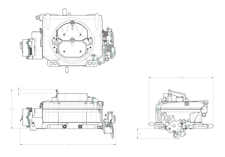 Demon 1901 625 Cfm Electric Choke Polymer Street 79 Chevy Engine Diagram Carburetor Automotive