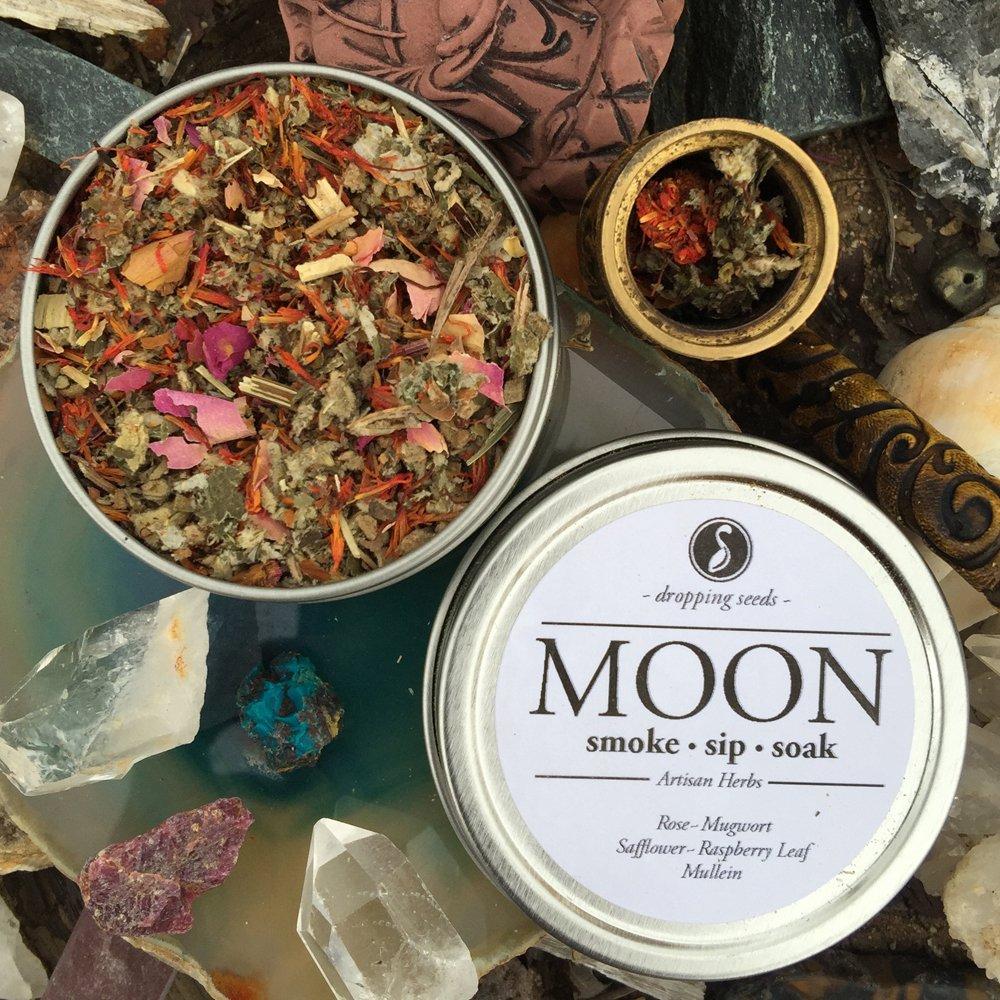 Organic Herbal Smoking Blend | MOON TIN