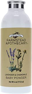 product image for Farmstead Apothecary 100% Natural Baby Powder with Organic Tapioca Starch, Organic Chamomile Flowers, Organic Calendula Flowers, Lavender & Chamomile 4 oz (4 Ounce (Pack of 1))