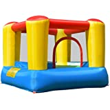 GYMAX Kids Bouncy Castle Inflatable Jumper House Safety Netting Indoor Outdoor