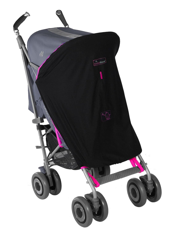 SnoozeShade - Cochecito para bebé, original negro Magenta pink trim: Snoozeshade: Amazon.es: Bebé