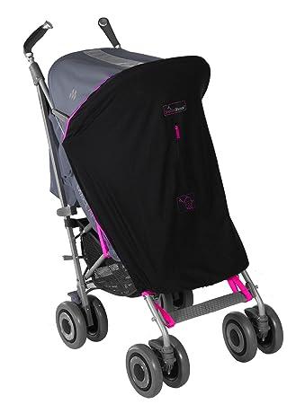 SnoozeShade - Cochecito para bebé, original negro Magenta pink trim