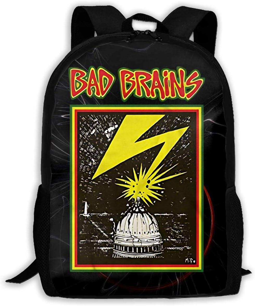 Ssxvjaioervrf Bad Brains Rucksack Laptop Backpack Casual Day Packs for School Travel Hiking