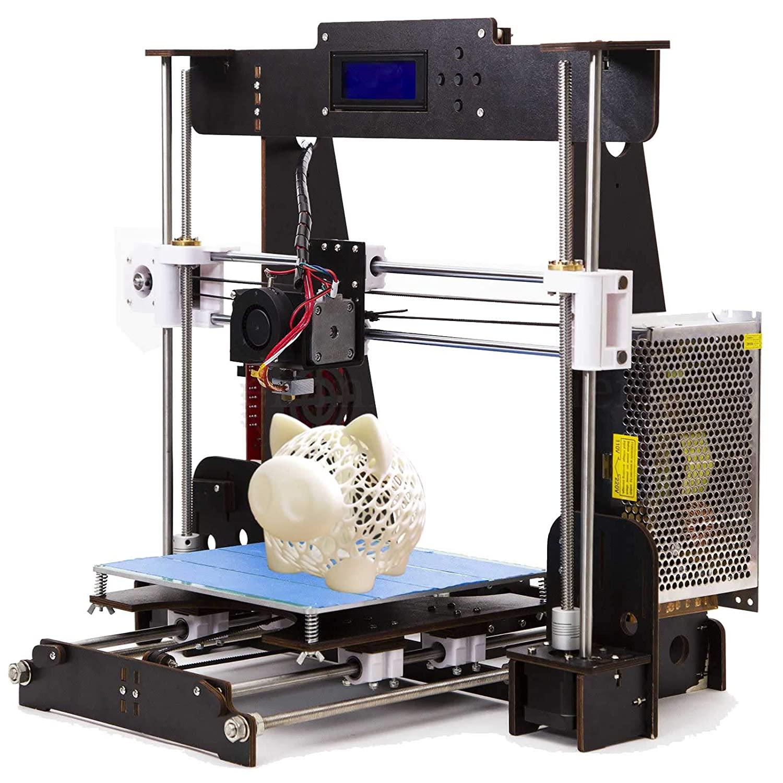 PrinThink A8 3D Drucker Bausatz, Upgradest High Precision MK8 Dü se 220 * 220 * 240mm Druckergrö ß e mit 1.75mm Filament DIY Prusa 3D Drucker Kit (Aviation Holzrahmen)