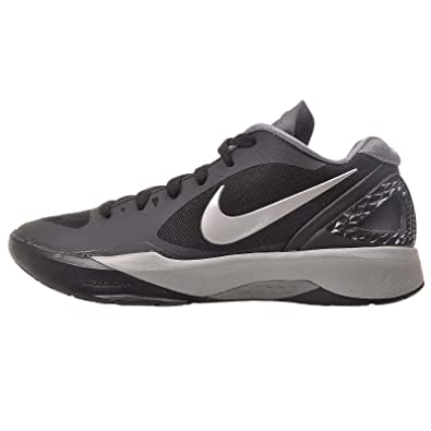 online retailer 81723 e6c79 Nike Women s Volley Zoom Hyperspike Black White Grey Metallic Silver  Volleyball Shoes - 12 B(M) US  Amazon.in  Shoes   Handbags