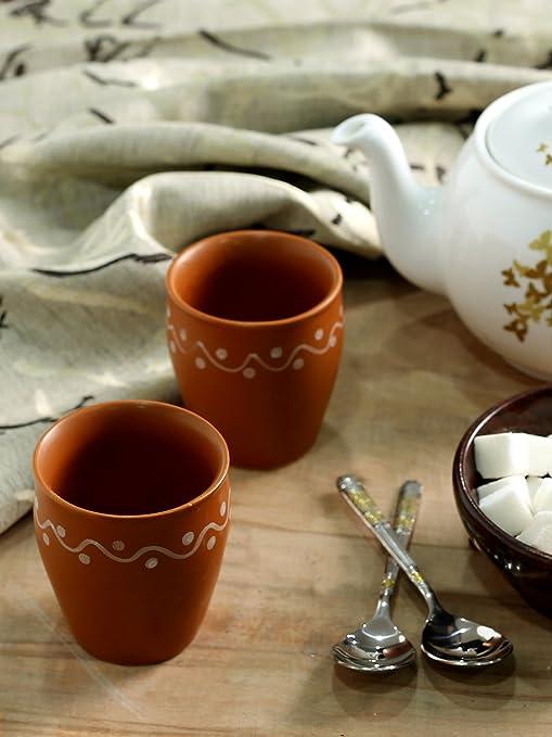 Buy Kulhads Online Handpainted Minimalist Terracotta Kulhads Set