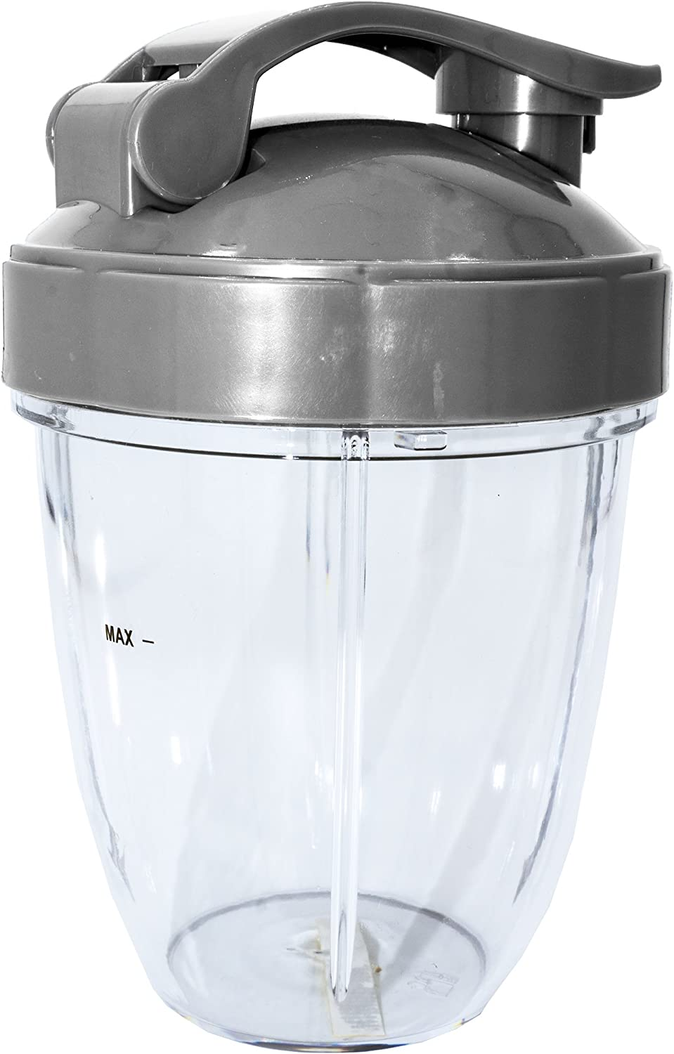 Blendin 18oz Short Cup and Flip Top To-Go Lid, Compatible with Nutribullet 600W and 900W Blenders