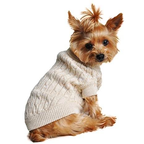 567919637ea Amazon.com   Doggie Design Combed Cotton Cable Knit Dog Sweater ...