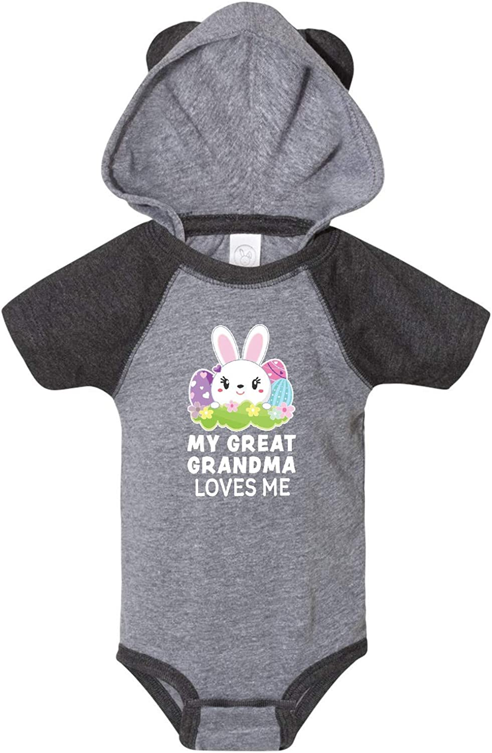 inktastic My Great Grandma Loves Me with Bunny and Easter Eggs Infant Creeper