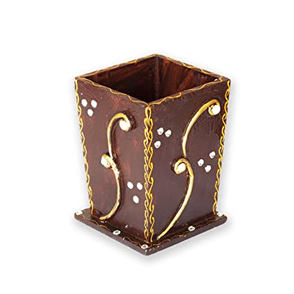 225 & Amazon.com: Indian Decorative Wooden Handmade Flower Vase ...