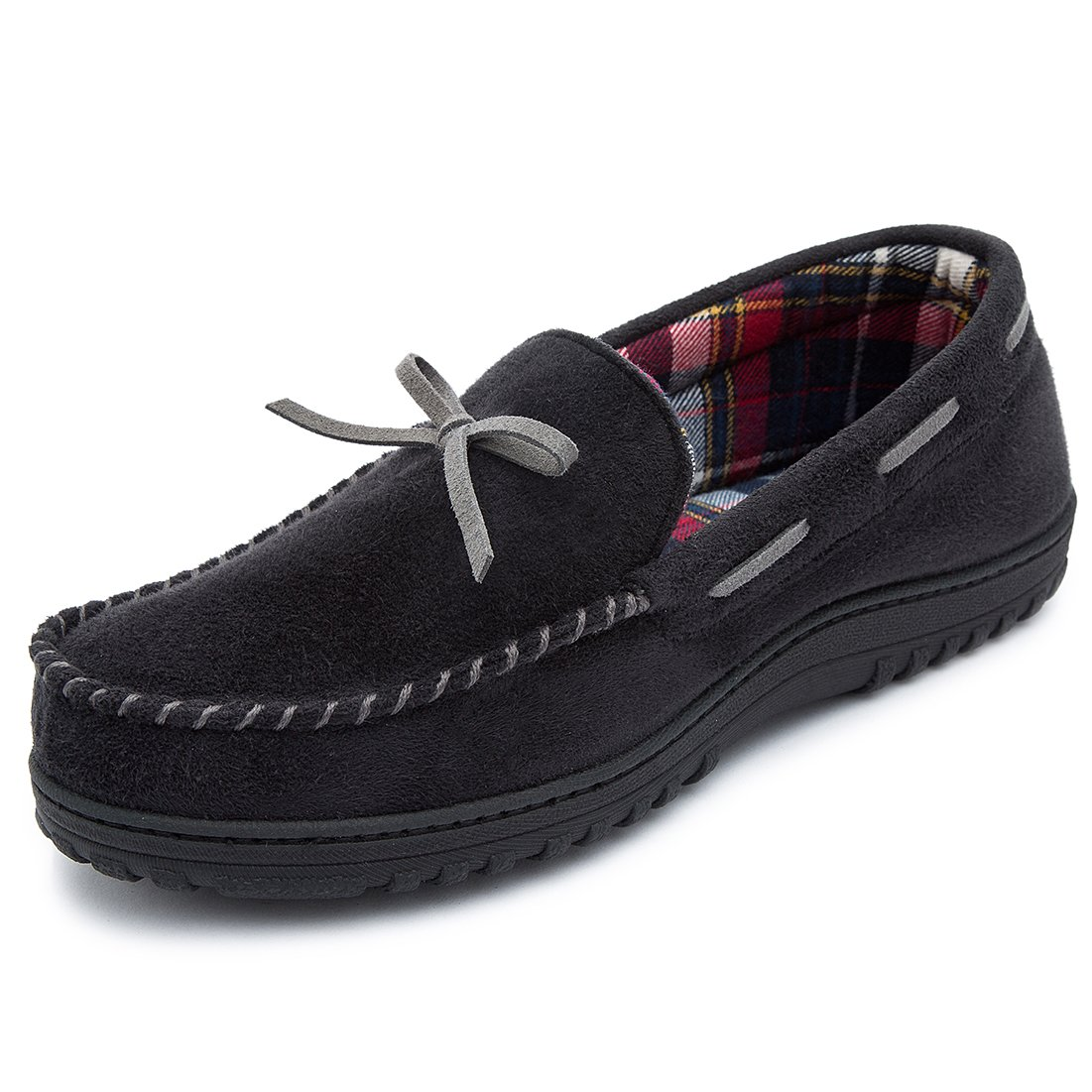 RockDove Men's Memory Foam Faux Moosehide Moccasin Slipper