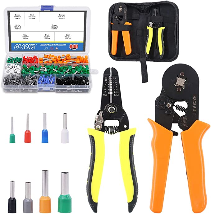 Ferrule Crimping Tool,Knoweasy Adjustable Crimping Tool and Wire Ferrule Crimper Used for 0.25-6.0mm/²//AWG23-10 Cable End Sleeves