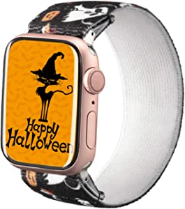 TOYOUTHS Halloween Elastic Band Compatible with Apple Watch Band Stretchy Loop 38/40mm Soft Nylon Strap Women Replacement Wristband for iWatch Series 6/5/4/3/2/1