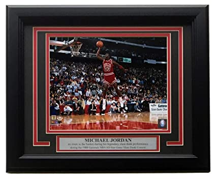 a56b7c19a79 Image Unavailable. Image not available for. Color: Michael Jordan Framed  Bulls 8x10 1988 ...