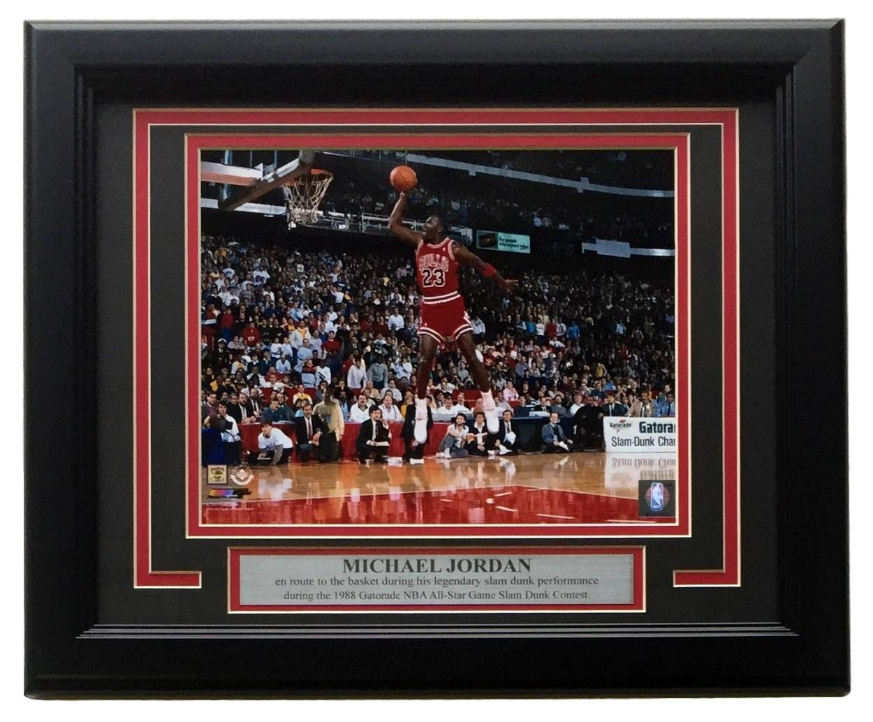 239691b44f4c Michael Jordan Framed Bulls 8x10 1988 Gatorade Slam Dunk Contest Spotlight  Photo