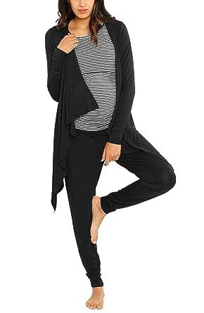 edff550501371 Angel Maternity Maternity 3 Piece Relax Outfit: Nursing Shirt - Bamboo  Cardigan - Bamboo/