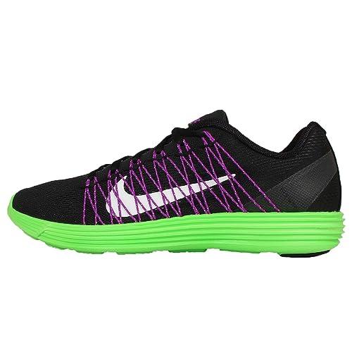 buy popular 10137 c6db3 Nike Lunaracer+ 3, Zapatillas de Running para Hombre,  Negro Blanco Verde Morado (Black White-Grn Strk-Vvd Prpl), 40 EU   Amazon.es  Zapatos y complementos