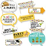 Funny Let's Fiesta - Mexican Fiesta Party Photo Booth Props Kit - 10 Piece