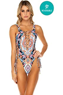 3bb246a33bc Luli Fama Star Girl - Deep V Crossed Back One Piece at Amazon ...