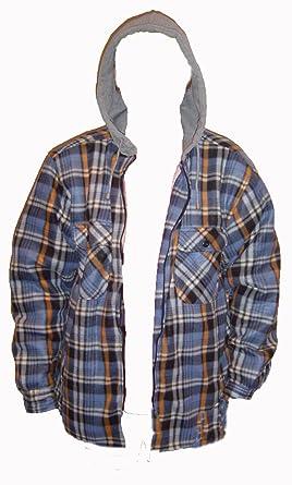 Boston New Hoody Fleeced Fur Lined Hooded Lumberjack Shirt S M L Xl Xxl Thermal Zip Up