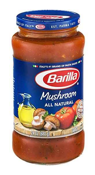 Barilla Mushroom All Natural Pasta Sauce 24 oz (Pack of 12)