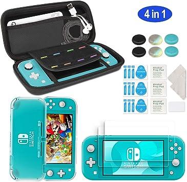 innoAura Kit de Accesorios para Nintendo Switch Lite, incluye Funda con 8 Tarjetas de Juego, Funda de TPU, 2 ...