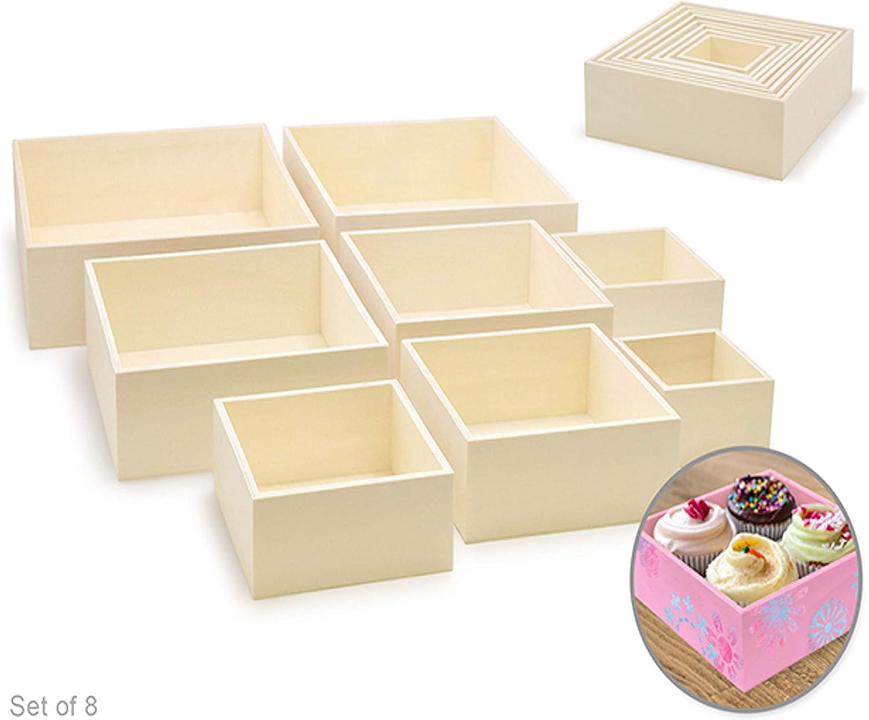 Cajas de madera para manualidades: 8 cajas de madera pequeñas y ...