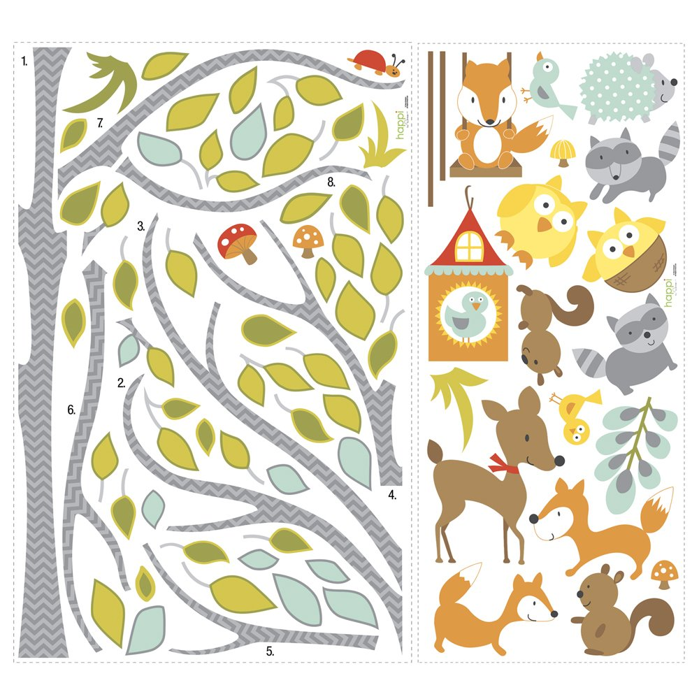 RoomMates Woodland Fox & Friends Tree Peel And Stick Wall Decals by RoomMates (Image #4)