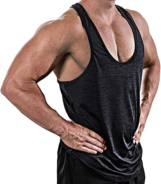 Mesh Muscle Stringer Athletic Workout Gym Fitness Vest T-Shirts Training Tank Mens Tank Tops