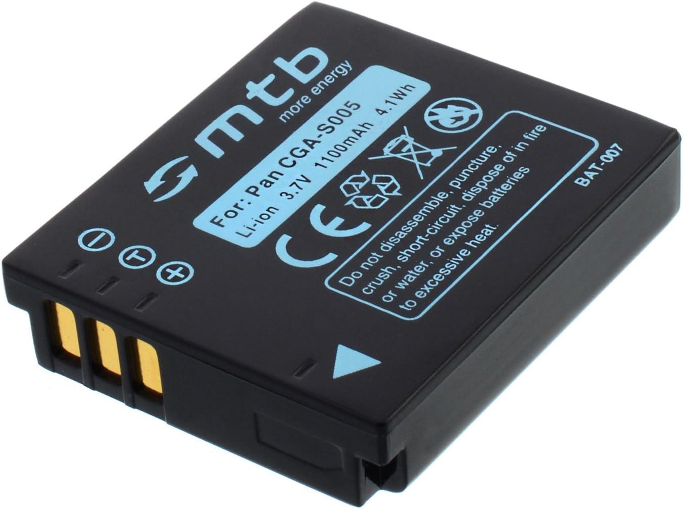 Battery CGA-S005 for Panasonic Lumix DMC-FS2 FX01 FX07 FX3 FX8 FX9