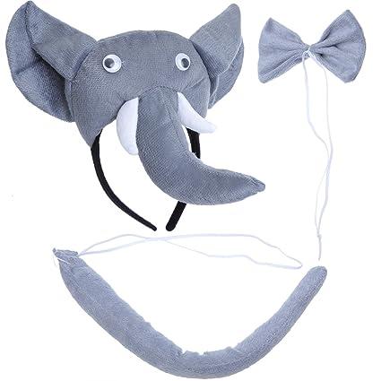 Pretyzoom 3Pcs Disfraz De Elefante Para Niños Conj...