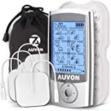 "AUVON Rechargeable TENS Unit Muscle Stimulator, 2nd Gen 16 Modes 2-in-1 EMS TENS Machine with Upgraded Self-Adhesive Reusable TENS Electrodes Pads (2""x2"") for Pain Relief"