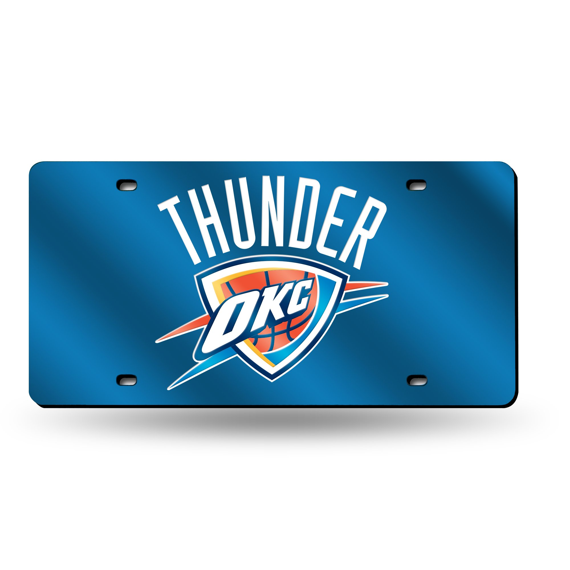 Rico Industries RIC-LZC68001 Oklahoma City Thunder NBA Laser Cut License Plate Cover