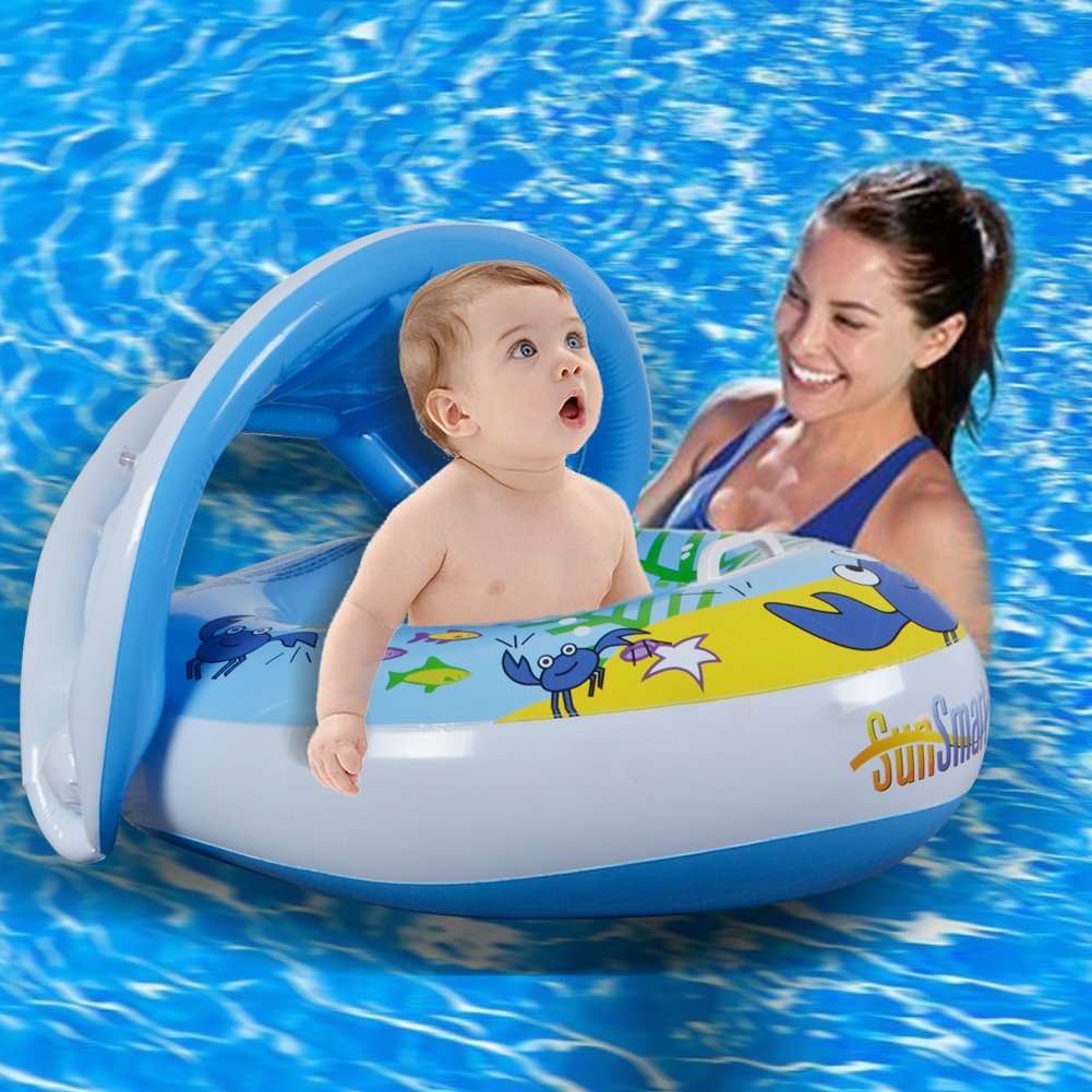 watinc inflatable baby pool float parent child swimming ring for 8