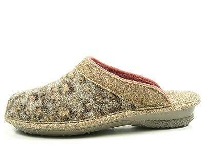 Rohde Damen Pantoffel 2268-85 fog grau, Gr. 38 - 40, Softfilz, Damen Größen:40;Farben:grau