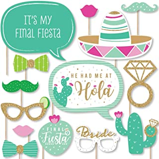 product image for Big Dot of Happiness Final Fiesta - Last Fiesta Bachelorette Party Photo Booth Props Kit - 20 Count