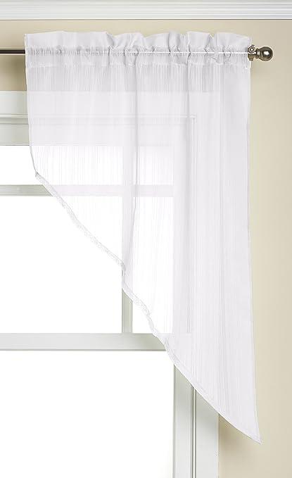 Lorraine Home Fashions Harmony Swag Pair, 56 x 38-Inch, White