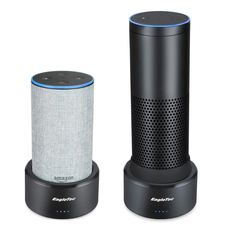 Eagletec P080 Portable Echo Battery Base, Larger 15120 mAh External Battery Pack, Speaker Stand for Amazon Alexa Smart Speaker Echo Plus 1st Generation & Echo 2nd Generation