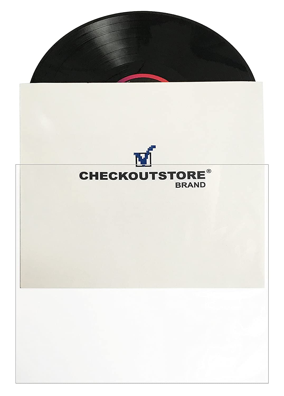 (100) CheckOutStore Clear Plastic CPP Sleeves for 12