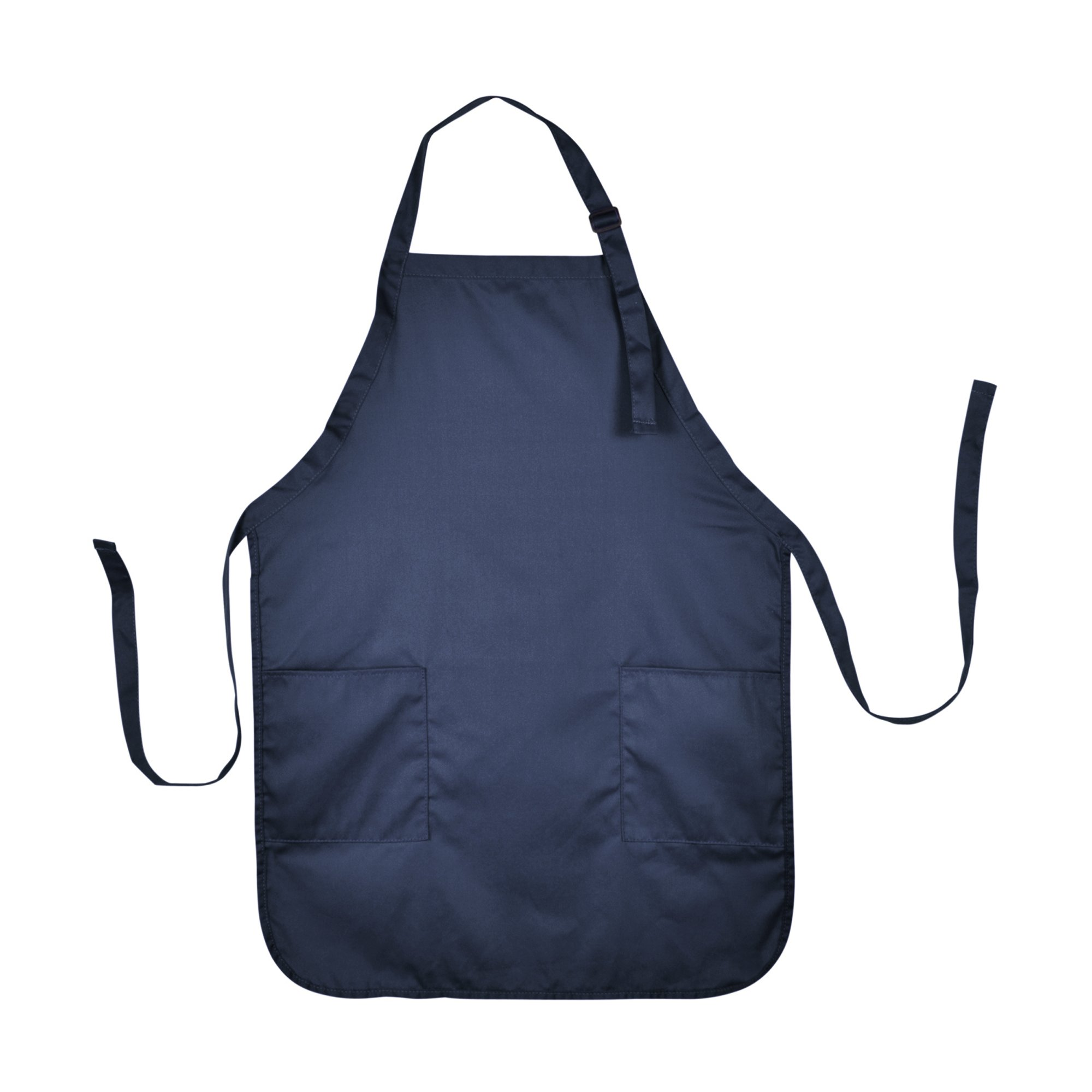 Apron Commercial Restaurant Home Bib Spun Poly Cotton Kitchen Aprons (2 Pockets) in Navy Blue 72 PACK