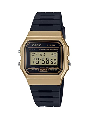 e9d87bcd9d7 Buy Casio Vintage Series Digital Gold Dial Men s Watch - F-91WM-9ADF (D142)  Online at Low Prices in India - Amazon.in